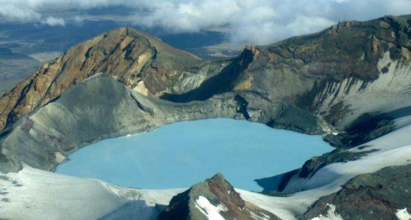 Flug um den Vulkan