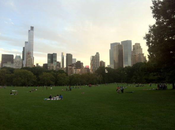 Sonntag abend im Central Park