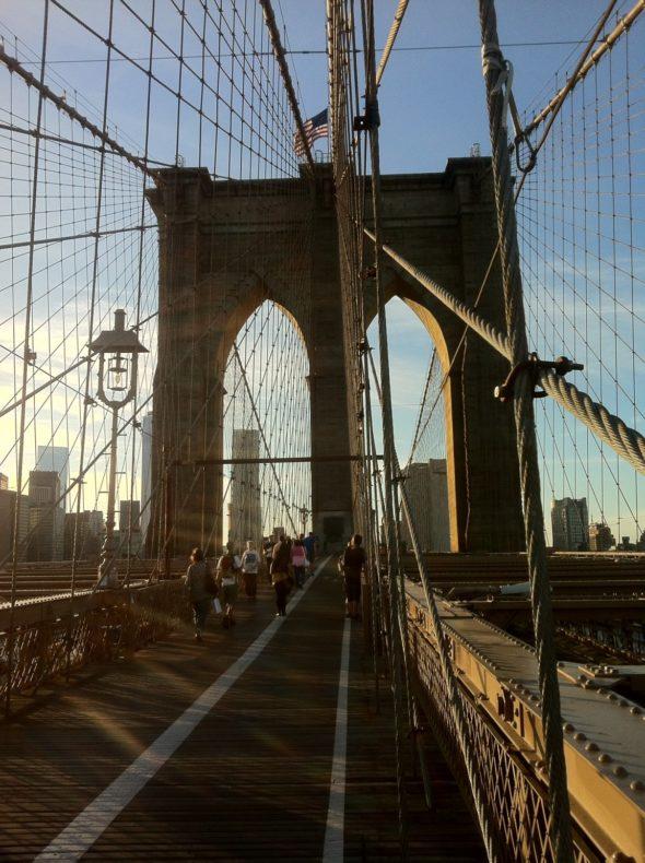 Abendspaziergang über die Brooklyn Bridge